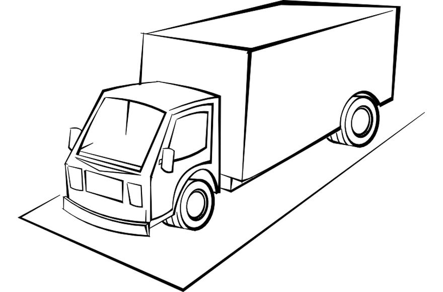 dibujo transporte camion: