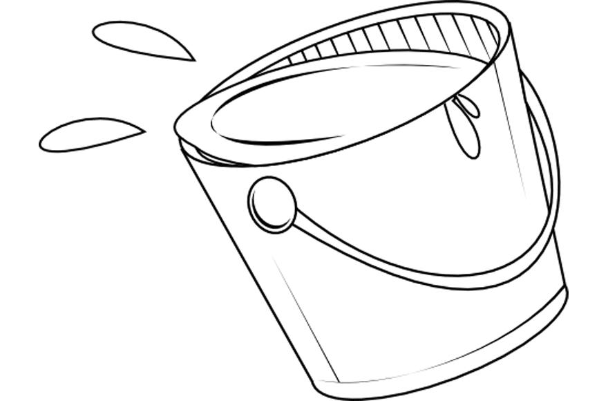 Dibujo de un cubo lleno de agua - Edudiver.com