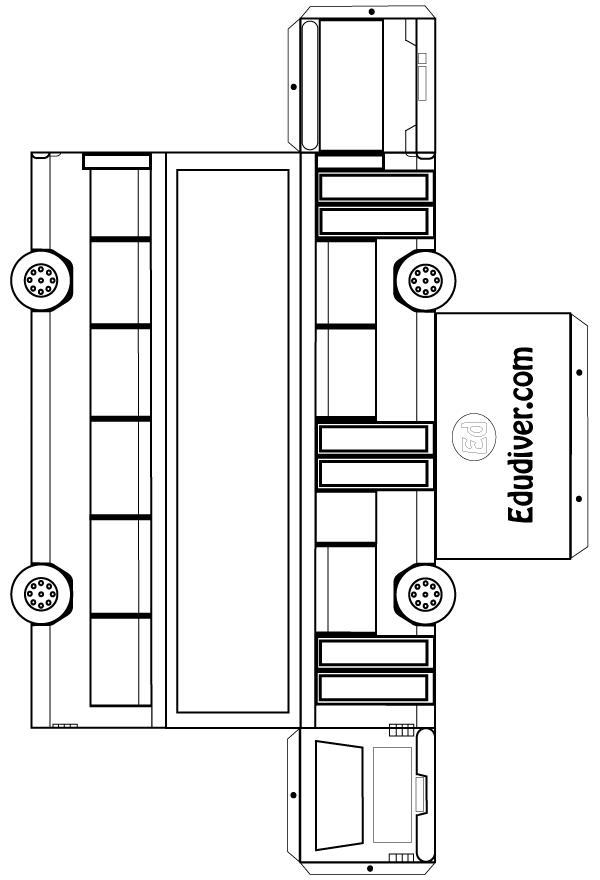 Recortable de un autobús - Edudiver.com